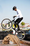 Trial biker at Trial Jam Event Royalty Free Stock Photos