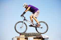 Trial biker at Trial Jam Event Royalty Free Stock Image