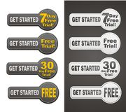 Trial button sets Royalty Free Stock Image