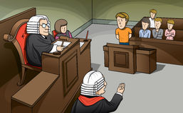 Trial in Court Royalty Free Stock Photos