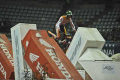 Trial and Enduro indoor World Championship in Barc. Toni Bou, Montesa team,win in the X-Trial indoor trial FMI world championship 2nd round Barcelona Palau Sant Stock Photos