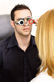 Trial frame for eye testing Stock Photo