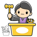 Trial judge character. A law school Character Stock Image