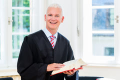 Trial Lawyer in his law firm Stock Photos