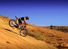 Trial motorcross bike in Zaragoza Stock Photography