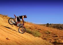 Trial motorcross bike in Zaragoza Stock Photography