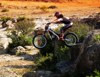 Trial motorcross bike in Zaragoza Royalty Free Stock Photo