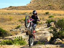 Trial motorcross bike in Zaragoza Royalty Free Stock Image