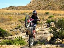 Trial motorcross bike in Zaragoza Royalty Free Stock Image