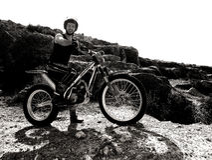 Trial motorcross bike in Zaragoza Royalty Free Stock Photography