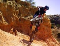 Trial motorcross bike in Zaragoza Stock Image