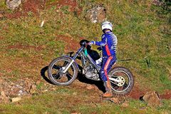 Trial motorcyclist Royalty Free Stock Photo