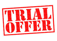 TRIAL OFFER Royalty Free Stock Image