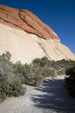 Trail through Red Rock Canyon. A trial through Red Rock Canyon, Nevada Stock Image