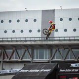 Trial show at EICMA 2013 in Milan, Italy Stock Photography