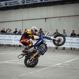 Trial show at EICMA 2013 in Milan, Italy Stock Photo