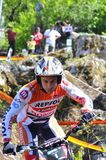 Trial Spain Championship. EL Condao, SPAIN - MAY 10: Trial Spain Championship on May 10, 2015 in El Condao, Spain. Toni Bou, 2th in the race held in Asturias Royalty Free Stock Photography