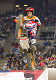 Trial - Toni Bou. Toni Bou, the world champion, compete at Trial Indoor of Barcelona, on February 9, 2014, in Palau Sant Jordi stadium, Barcelona, Spain. He was Stock Photo