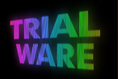 Trial ware sign board Royalty Free Stock Image