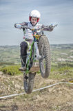 Trials bike rider Royalty Free Stock Image
