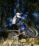 Trials Motor Bike Rider Royalty Free Stock Image
