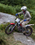 Trials Motorcycle Rider. Royalty Free Stock Photo