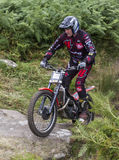 Trials Motorcycle Rider. Stock Photo