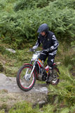 Trials Motorcycle Rider. Stock Photography