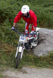 Trials Motorcycle Rider. Stock Image