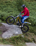 Trials Motorcycle Rider. Royalty Free Stock Photos