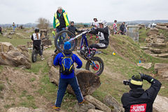 Trials rider Royalty Free Stock Photos