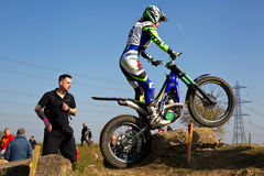 Trials riding Stock Image