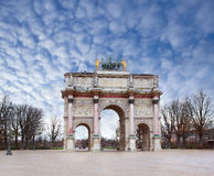 Triamphal arch in Paris Royalty Free Stock Image