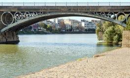 Triana桥梁 库存照片