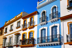 Triana barrio Seville facades Andalusia Spain Royalty Free Stock Images