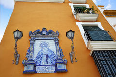 Triana barrio of Seville facades Andalusia Spain Royalty Free Stock Images