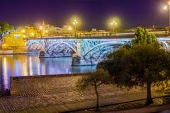 Triana Brücke Lizenzfreie Stockfotografie