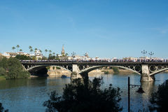 The Triana bridge Stock Photo