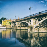 Triana Bridge Royalty Free Stock Image