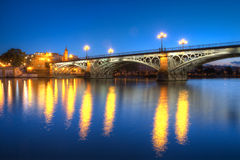 Triana Bridge Royalty Free Stock Photo