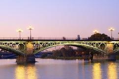 Triana bridge. Over the river Guadalquivir, Sevilla, Andalucia, Spain stock image