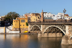 Triana Bridge in Seville Royalty Free Stock Photos