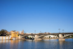Triana Bridge in Seville Royalty Free Stock Images