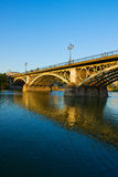Triana Bridge in Seville, Spain Royalty Free Stock Photo
