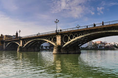 Triana Bridge in Seville Stock Photos