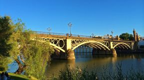 Triana Bridge - Seville, Spain royalty free stock images