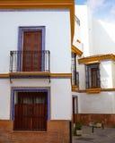 Triana dzielnica Seville fasady Andalusia Hiszpania Zdjęcie Royalty Free