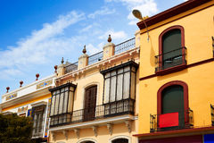 Triana dzielnica Seville fasady Andalusia Hiszpania Fotografia Royalty Free