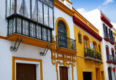 Triana dzielnica Seville fasady Andalusia Hiszpania Obraz Stock