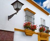Triana dzielnica Seville fasady Andalusia Hiszpania Zdjęcie Stock
